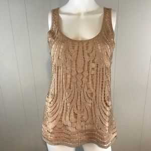 Express Women's Small Sparkly Tank Top
